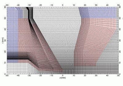 Graded fine mesh