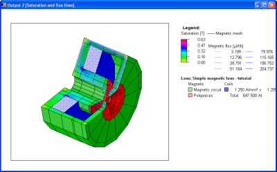 Output window with 3D view